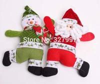 20PCS Christmas snowman doll Santa Claus dolls Xmas felt hangings toys indoor tree Plush pendant