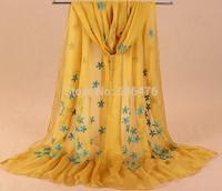 mu601 newst style wrap high quality chiffon with embroidery and beadding  shawl scarf elegant muslim islamic hijab