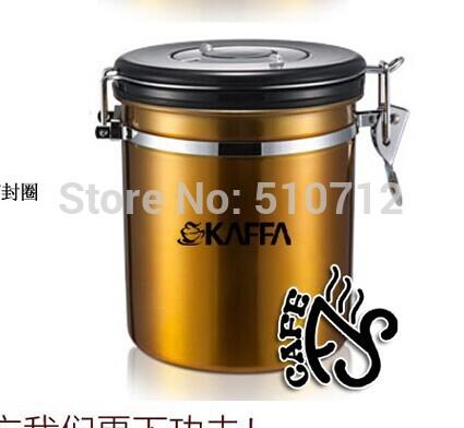 Abóbada Café, lata de armazenamento de café, 500g 250g , sabor completa começa com café fresco Freeshipping ouro(China (Mainland))