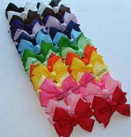 """12pcs/lot 2"""" pinwheel hair bows with ribbon alligator clips baby hair bows  30 colors"""