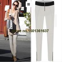 Free shipping 2014 Zipper Leggings outer wear casual pants Slim was thin waist pencil pants