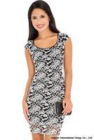 Free shipping NEW 2014 Elegant Print Dress Empire Emboldery Dress Big Size Casual Work Women Clothes hot sales Lady Dress