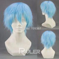 Short layered kuroko no basket Kuroko Tetsuya Anime Cosplay wig Kanekalon Fiber Hair full queen Wigs