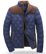 HOT ! new men white duck down coat & parkas Hit color patchwork Outwear jacket Men's Winter thicken warm overcoat M-XXXL outdoor