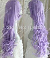 Long Curly Codplay Heat-Resistant wig Kanekalon Fiber Hair full queen Wigs