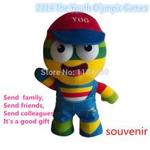 2014 The Youth Olympic Games mascot doll nanjing YOG  souvenir lele free shipping-boy(China (Mainland))