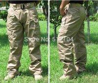 New arrival Men's Grid Pants Poly-Cotton Ripstop Teflon Waterproof Wholesale And Retail Black Brown Green Khaki