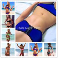 Swimwears Triangl Women's Fashion Neoprene Bikinis Woman Summer 2014 Sexy Swimsuit Bath Suit Push Up Bikini set Bathsuit  V17