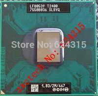 For Intel Core Duo T2400 CPU (2M Cache, 1.83GHz, 667 MHz FSB) PGA478, SL8VQ ,TDP 31W, Laptop CPU Compatible 945GM 945PM 945GME