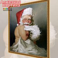 Free shipping Wholesale retail Cross Stitc DIY diamond embroidery kit Inlaid decorative painting Oil Painting Santa Claus 08350
