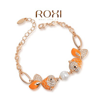Wholesale fashion 18K Gold Plated Austrian crystal bracelet,new arrival factory prices RO174
