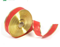 Christmas 200*5cm Silk Edge Pressing Red Ribbon Christmas Tree Ornaments