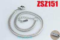 3.0mm Flat net stainless steel brace lace fashion bracelet  fashion jewelry 20pcs ZSZ151