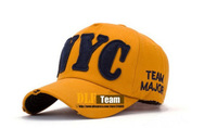 Free shippping wholesale NYC letters baseball cap  summer hat men and women sunbonnet 10pcs/lot