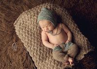 baby clothing photography set for newborn winter crochet hat + pants for boy bonnet photo props
