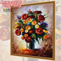 Free shipping Wholesale retail Cross Stitc diamond embroidery kit Inlaid decorative painting Oil Painting Gorgeous flowers 08365