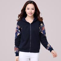 2014 Autumn Women Sports Suit Print Hat Sweatshirt  Female Plus Size XXXL Hooded Sweatshirt Hoodies Outwear XL XXL XXXL XXXXL