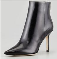 sample fashion brand genuine leather women heels boots black  2014 women martin boots autumn high heels women motorcycle boot