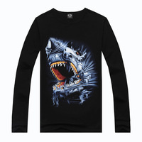 Metal Empire brand men's sports personality of foreign trade men's long-sleeved T -shirt men men's t-shirt factory outlets