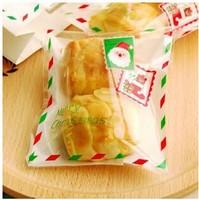 100pcs/lot Christmas messenger  Plastic packaging bags,10x11cm cake bag,Self adhesive bafs free shipping