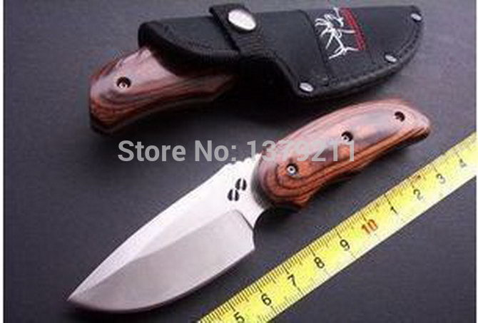 Buck 490 Rocky Mountain Elk Foundation hook hunting knives Fixed survival knife FK29(China (Mainland))
