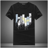 2014 summer new men's short-sleeved T-shirt wholesale t-shirt printing cotton round neck T shirt Men Men