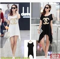 Free shiiping Women's clothing 2014 new long section of large size women's long-sleeved t-shirt Fashion T shirt