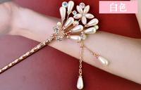 Fashion  crystal women hair sticks Flower hair clasp E1606 5pcs/lot+free shipping