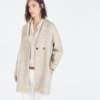 L2838 Winter coat desigual  woman 2014 new European style wool coat winter coat women mid length collarless coat