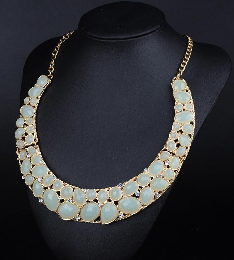N090610 Bubble Multi color Women Fashion Jewelry designer inspired Luxury statement necklace & pendant choker bib collar(China (Mainland))