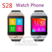Smart Watch Phone S28 1.54'' MTK6260 Wireless Bluetooth Sync / SIM /TF Pedometer Smartwatch Wristwatch For Samsung Android Phone