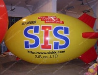 Hight quality digital printed inflatable zeppelin helium balloon airship blimp for sale with free shipping