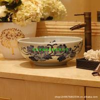 Jingdezhen ceramic art lavabo, lavatory basin - playing the basin that wash a face - blue and white