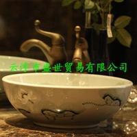 Jingdezhen ceramic art basin basin stage basin sinks the sink Prescribed by ritual law swim