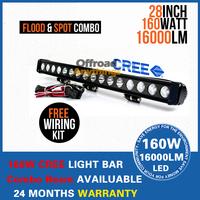 "28""  160W LED light bar 16x10W CREE LED Off road Truck SUV 4WD LED Driving light LED Work Light Bar"