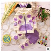 RETAIL hot sale spring/autumn children clothing sets girls coats+pants Children's sport suit sets
