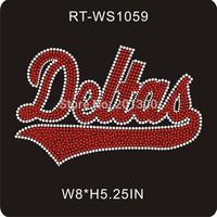 DHL free shipping 30pcs/lot rhinestone transfers delta sigma theta RT-WS1059