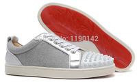 Gray sheep spike men's shoes, flat red bottom men Sneakers