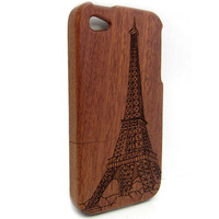 Free Shipping Wood case For iphone 4G Tower design case for iPhone 4/4S,wooden mobile cover