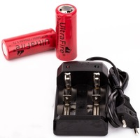 Charger + 2 * Ultrafire 26650 Battery 7200mAh Rechargeable 3.7V Batteries 7200mAh for LED Flashlight , Free Shipping