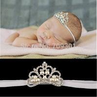 20pcs/lot Crown Headband For Baby Girl Tiara Headband Elastic Newborn Toddler Photo Prop Hair Accessories set