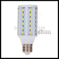 100pcs/lot E27 12W 5630 SMD 60 LED Warm White/White Corn Light Lamp Bulb AC 220-240V Super Bright