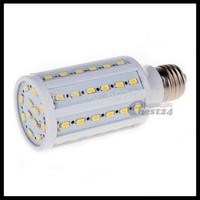 E27 12W 5630 SMD 60 LED Warm White/White Corn Light Lamp Bulb AC 220-240V Super Bright