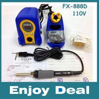 Wholesale High quality HAKKO 110V  FX-888D Digital Soldering Station/Solder Soldering Iron 70W Replace hakko 936