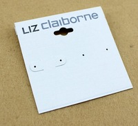 Wholesale Fashion Jewelry Package White PVC Earring Card Tag For liz