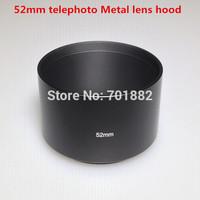 Camera 52mm 52 mm Tele Metal Lens Hood For branding C N S P Olym etc