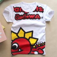 Wholesale 2014 summer new boy t-shirt dinosaur pattern cotton short-sleeved round neck Kids Fashion Kids
