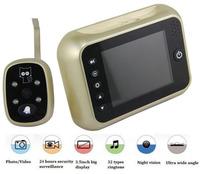"3.5"" Digital Peephole Door Viewer  Eye Doorbell 120 degree Video Color IR Camera Security 3X Zoom Night Vison Multiple Languages"