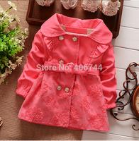 Children's lace overcoat, girls overcoat with belt,ZL-ww01