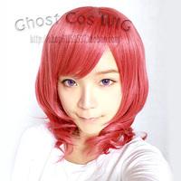 Nishikino Maki Melon Red Culy Cosplay Anime Wig Hair.Heat Resistance Synthetic Wig